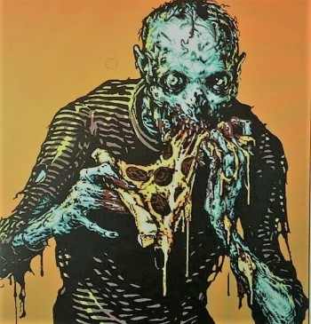 Zombie Eating Toxic Pizza