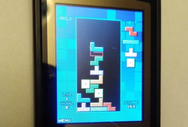 Tetris on an old flip phone