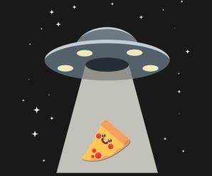 UFO Pizza Alien Space