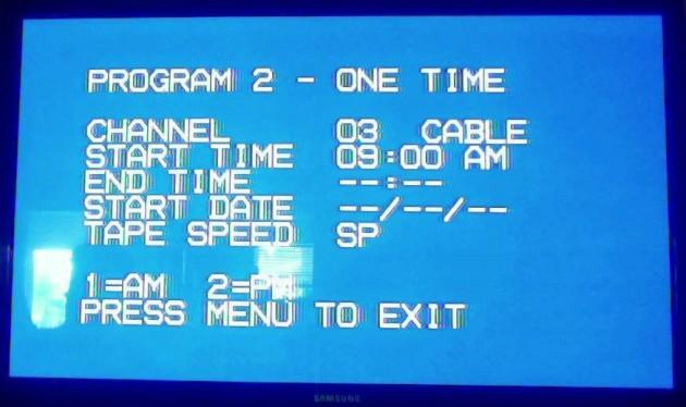 VCR programming 19980's blog post